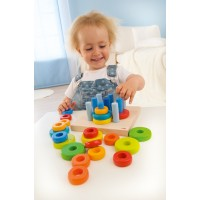 HABA - Pegging Game Ring Rack Row