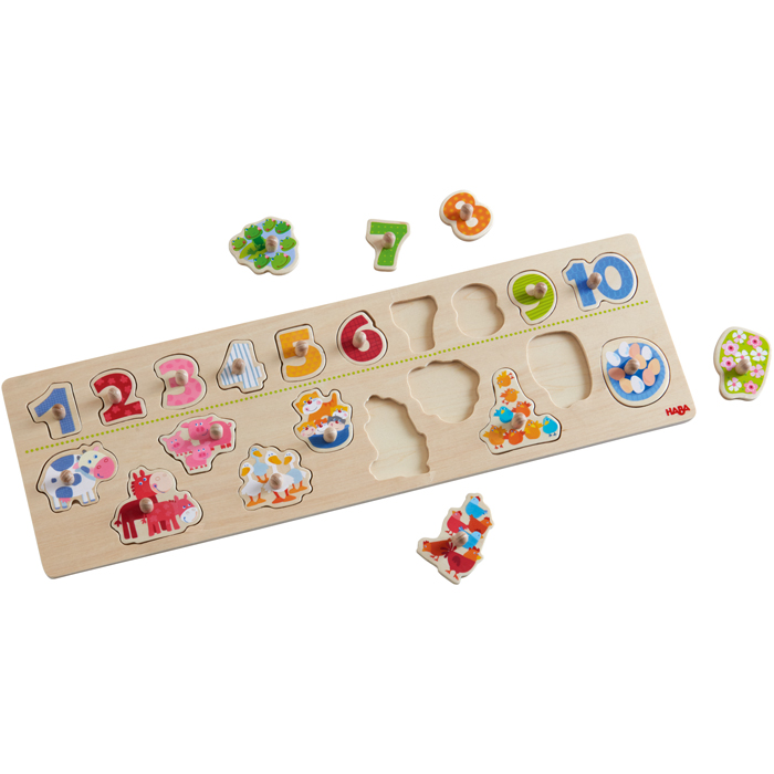 HABA - Peg Puzzle Animals By Number