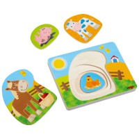 HABA - 4 Layer Puzzle Farm